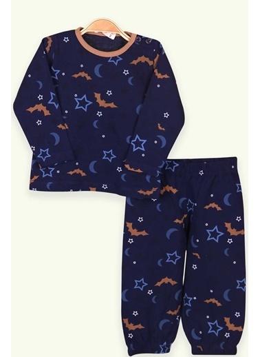 Breeze Bebek Pijama Takımı Yıldızlı Lacivert (9 Ay-1.5 Yaş) Lacivert